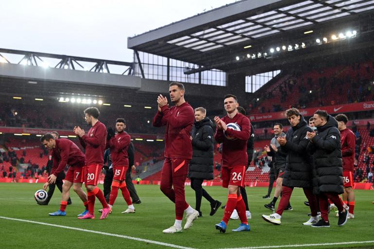 Les joueurs de Liverpool le 23 mai 2021