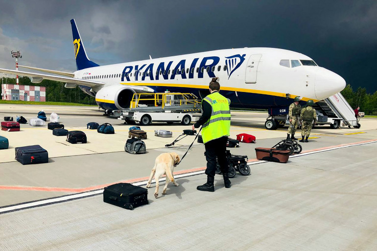 L'avion RyanAir intercepté à Minsk le 23 mai 2021