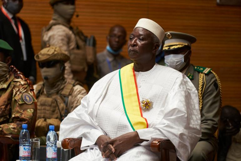 Photo de Bah N'Daw, le président malien, prise le 25 septembre 2020 à Bamako.