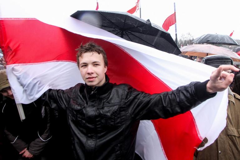 """Photo de Roman Protassevitch prise le 25 mars 2012 lors du rassemblement de la """"Journée de la liberté""""."""