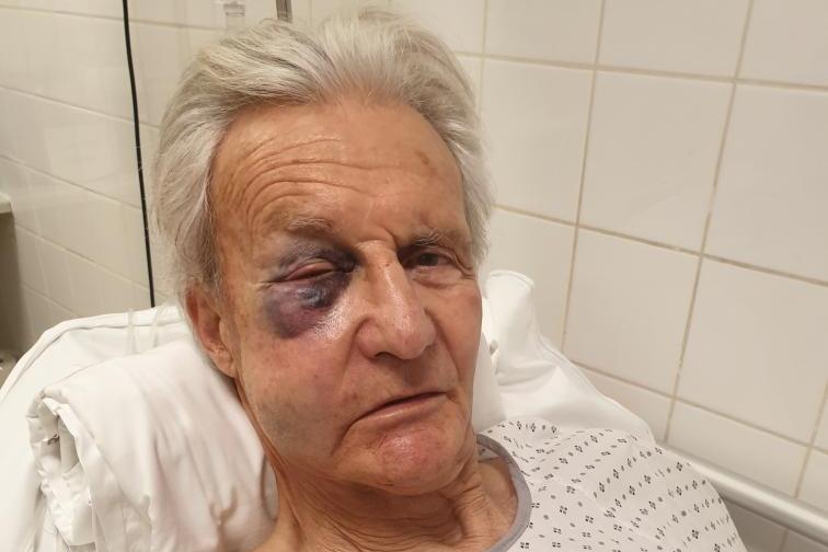 Christian Puech après avoir été agressé pour avoir filmé un dépôt sauvage
