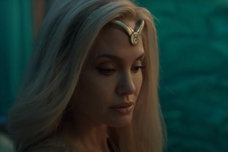 """La guerrière Thena (Angelina Jolie) dans la bande-annonce d'""""Eternals"""""""