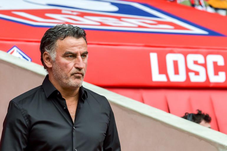 Christophe Galtier au stade Pierre-Mauroy de Villeneuve-d'Ascq le 11 août 2019