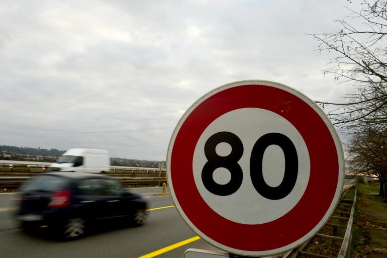 Un panneau de signalisation 80 km/h (illustration).