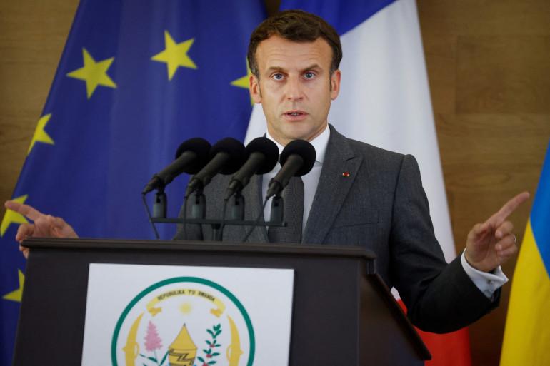 Emmanuel Macron était à Kigali, capitale du Rwanda, ce jeudi 27 mai.