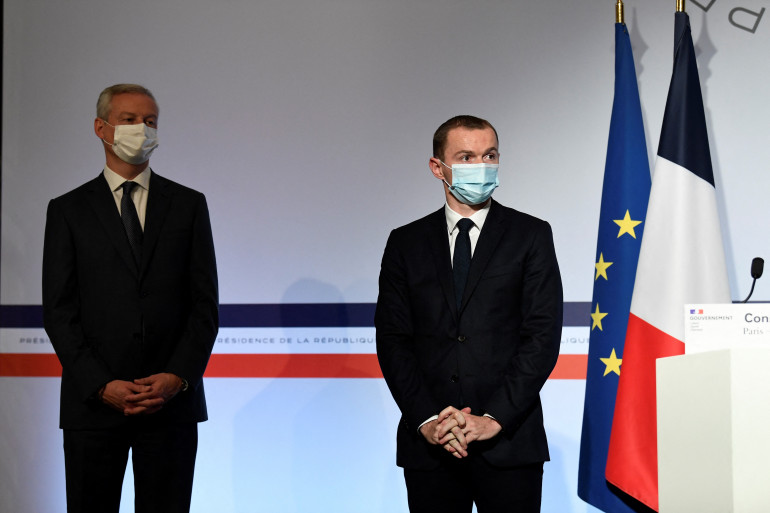 Bruno Le Maire et Olivier Dussopt