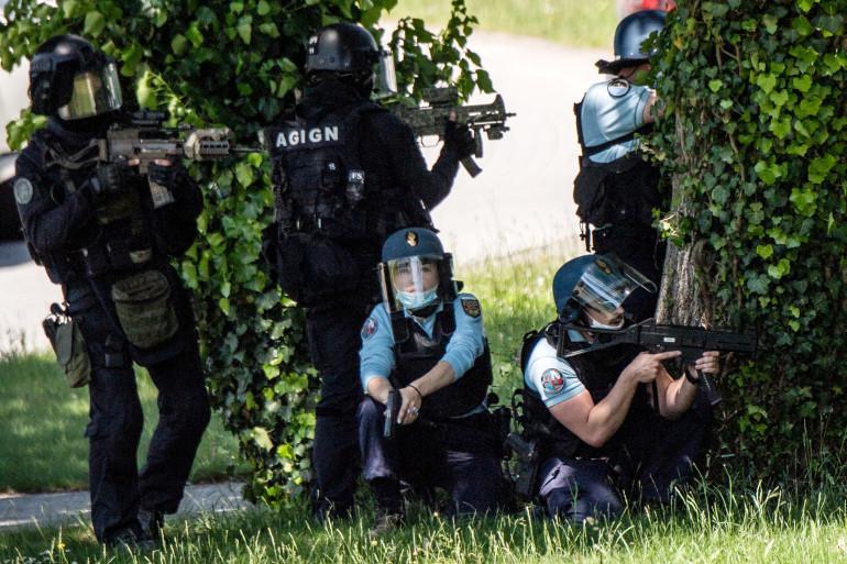 De nombreux gendarmes et hommes du GIGN ont été déployés à La Chapelle-sur-Erdre