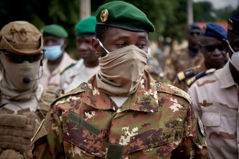 Photo du colonel Assimi Goïta, prise à Bamako le 18 septembre 2020. (Illustration)