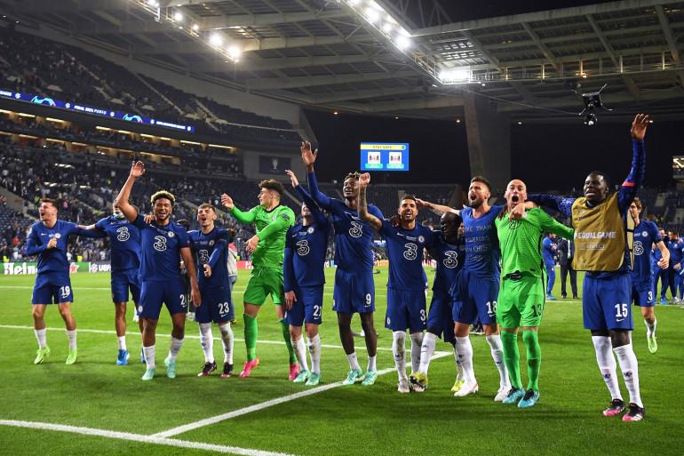 La joie des joueurs de Chelsea, vainqueurs de la Ligue des champions le 29 mai 2021