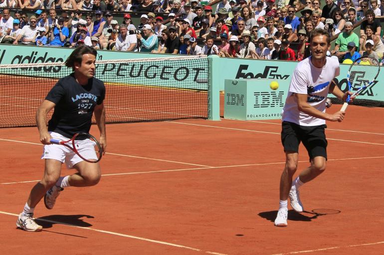 Fabrice Santoro et Nicolas Escudé à Roland-Garros le 26 mai 2012