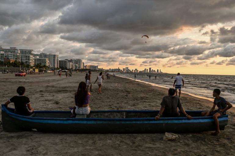 Une plage à Carthagène, en Colombie (illustration)