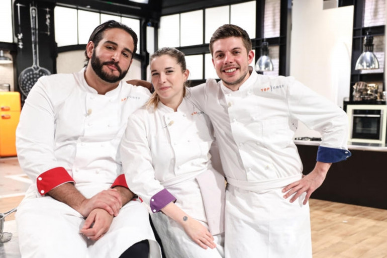 """Mohamed, Sarah et Matthias, les demi-finalistes de """"Top Chef"""" 2021"""