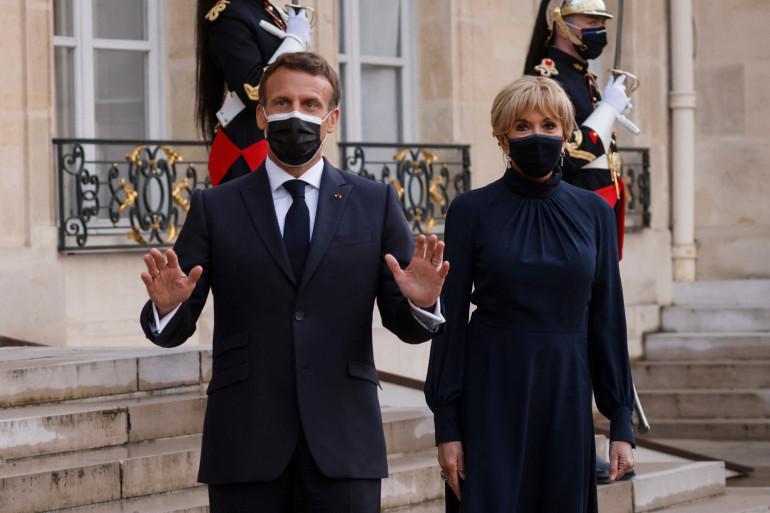 Emmanuel et Brigitte Macron le 17 mai 2021.