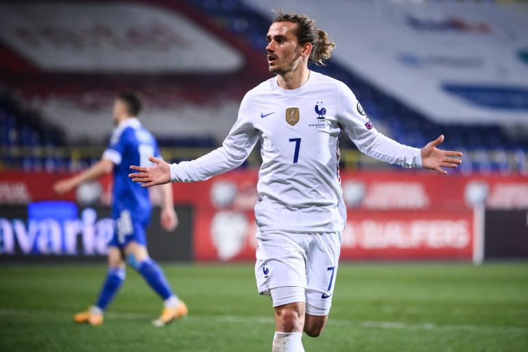 Antoine Griezmann, avec le maillot de l'équipe de France, face à la Bosnie-Herzégovine, le 31 mars 2021
