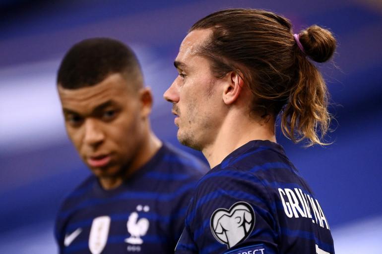 Kylian Mbappé et Antoine Griezmann au Stade de France le 24 mars 2021