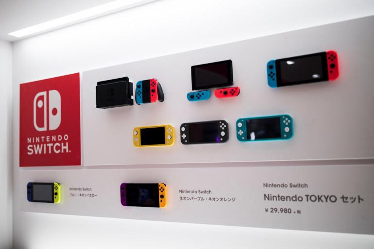 Un rayon de consoles Nintendo au Japon (illustration)
