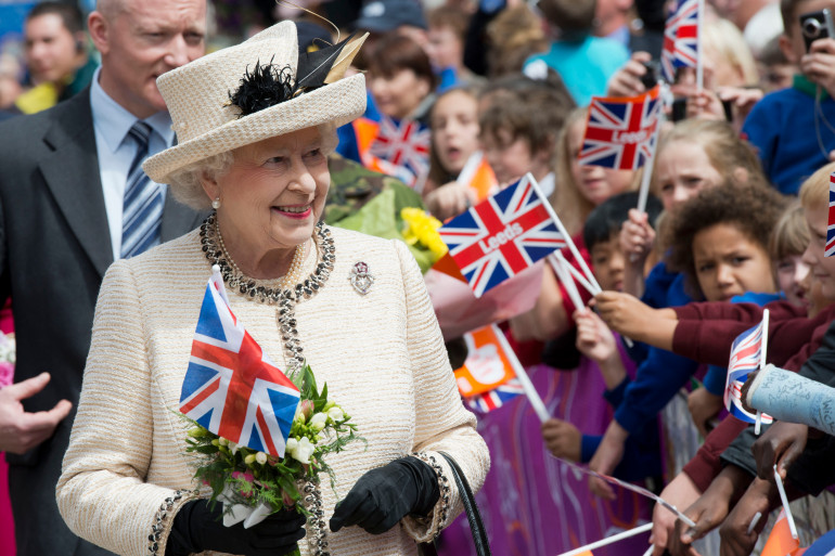 Elizabeth II en 2012 pendant le jubilé de diamant