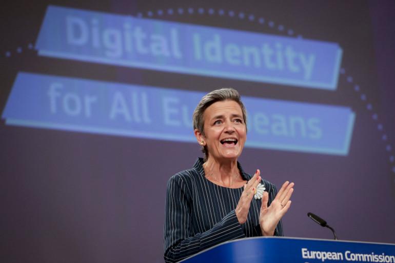La vice-présidente de la Commission européenne Margrethe Vestager le 3 juin 2021 à Bruxelles