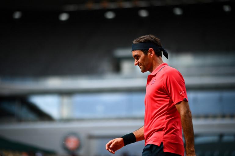 Roger Federer à Roland-Garros le 3 juin 2021