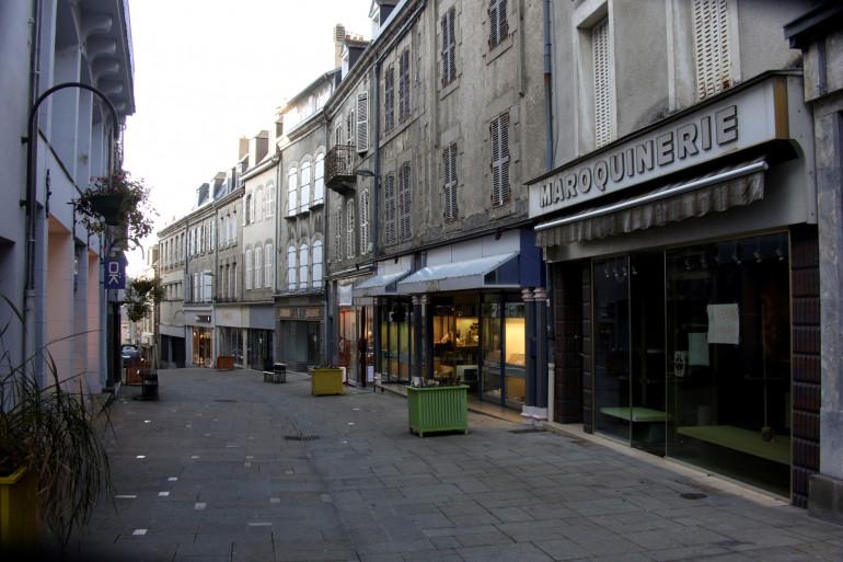 La ville de Guéret dans la Creuse (illustration)