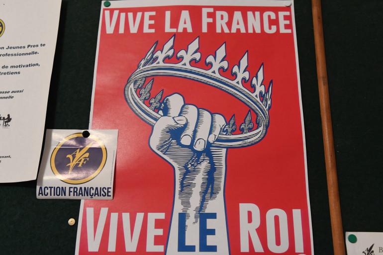 Un poster de l'Action Française, le 19 octobre 2017 Française, in Paris
