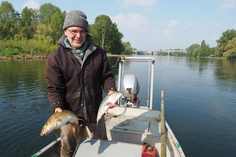 Thierry Bouvet; l'un des rares pêcheurs professionnel en eau douce