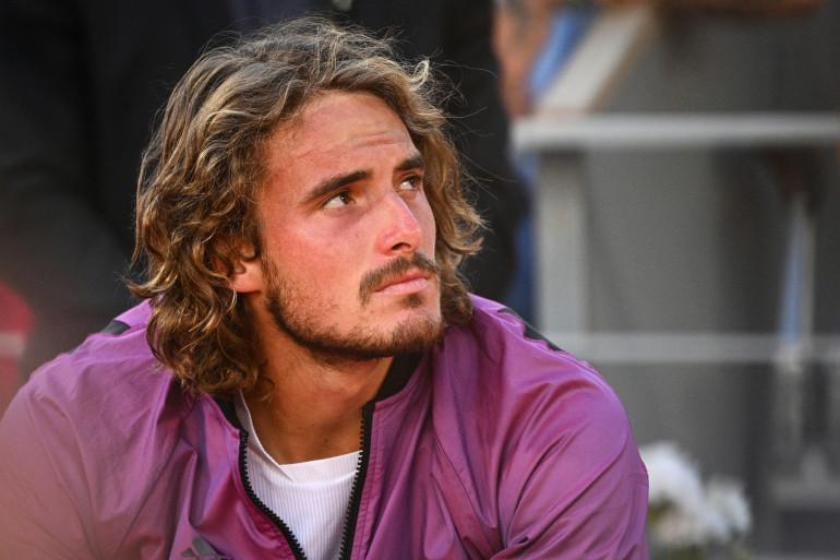 Stefanos Tsitsipas après sa défaite en finale de Roland Garros le dimanche 13 juin 2021