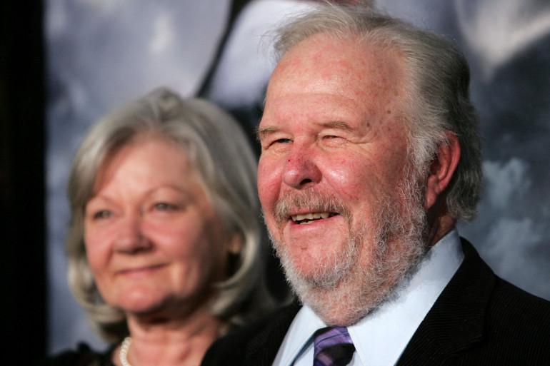 L'acteur Ned Beatty aux côtés de sa femme Sandra Johnson, en 2007