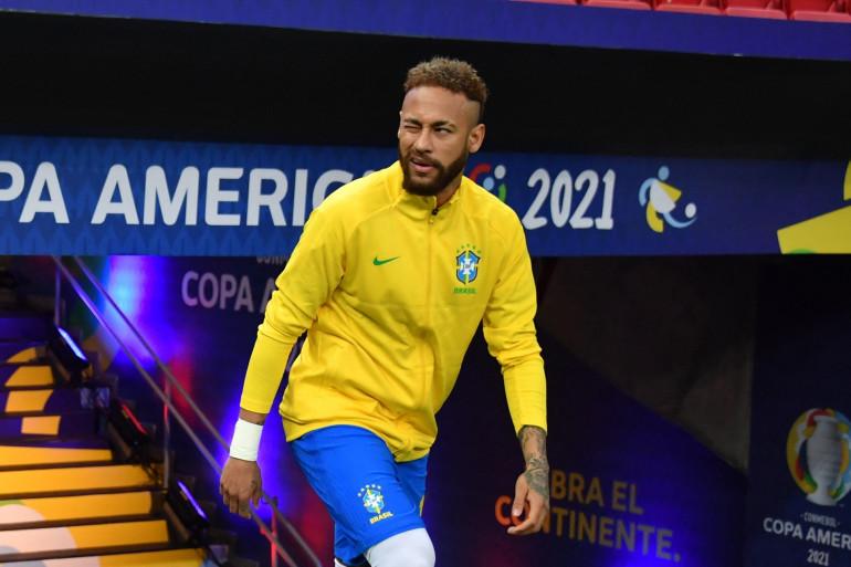Neymar avant le match Brésil-Venezuela le dimanche 13 juin 2021.
