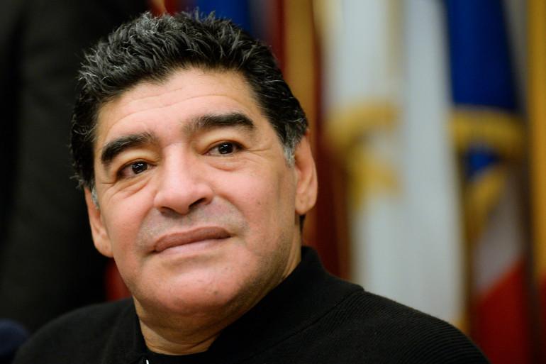Photo de Diego Maradona prise dans les bureaux de l'Union européenne dans le centre de Rome, le 14 février 2014. (Illustration)