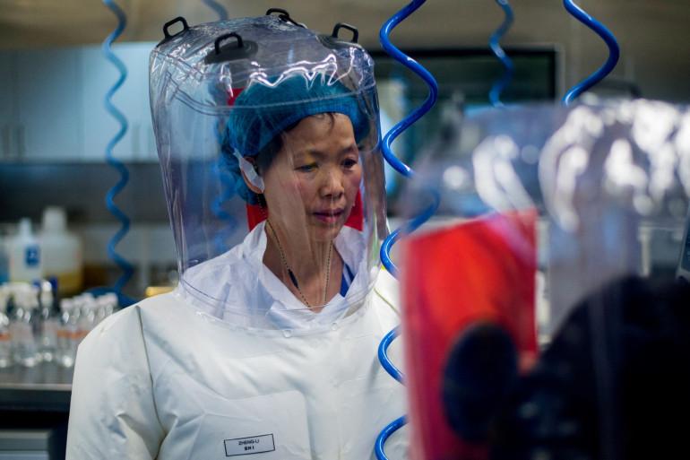 Photo de la virologue chinoise Shi Zhengli prise à l'intérieur du laboratoire P4 à Wuhan, capitale de la province chinoise du Hubei, le 23 février 2017.
