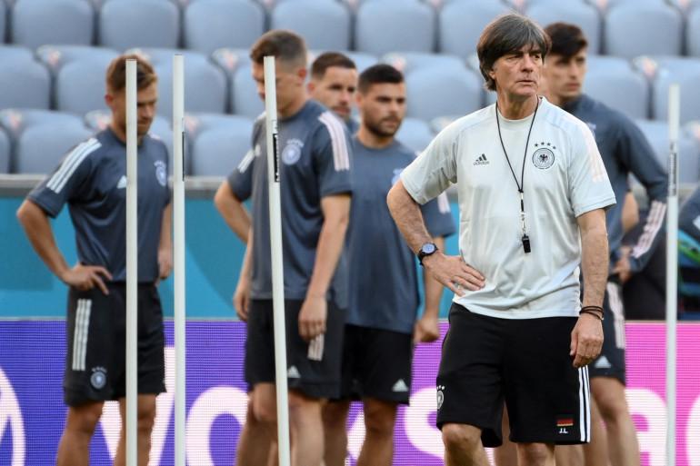 L'entraîneur de l'Allemagne Joachim Löw et ses hommes sont le premier adversaire des Bleus à l'Euro, mardi 15 juin