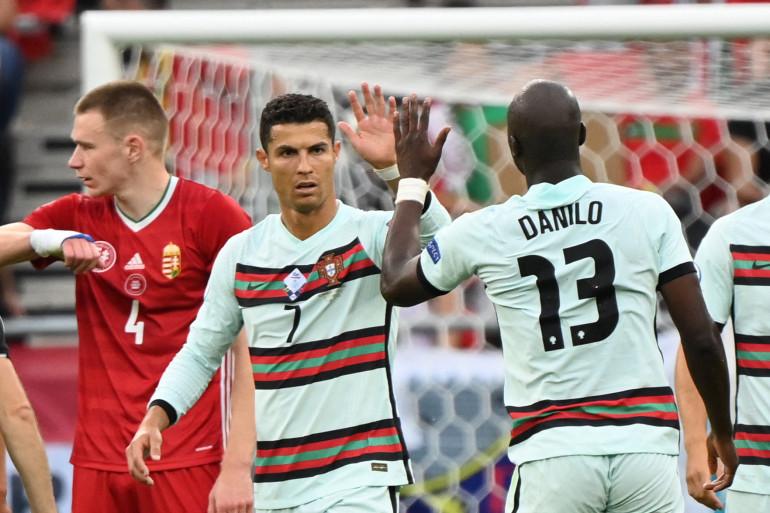 Ronaldo et Danilo avec le Portugal à Budapest le 15 juin 2021