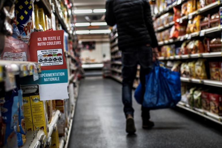 Le rayon d'un supermarché à Lyon, le 28 octobre 2016 (illustration)