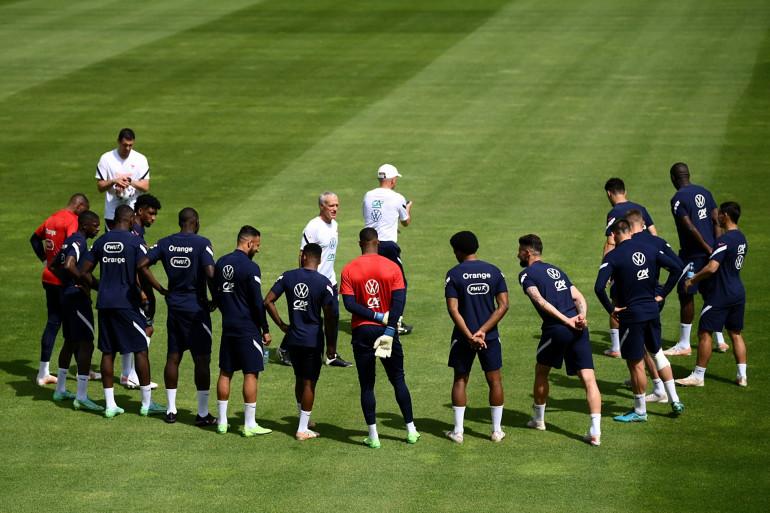 Les Bleus à l'entraînement à Munich le 16 juin 2021