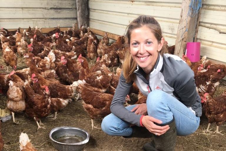 Heidi Carneau a déjà sauvé près de 8.000 poules de l'abattoir.