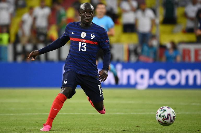 N'Golo Kanté avec les Bleus à Munich le 15 juin 2021