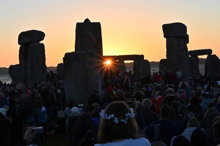 Une célébration du solstice d'été en Grande-Bretagne le 21 juin 2019