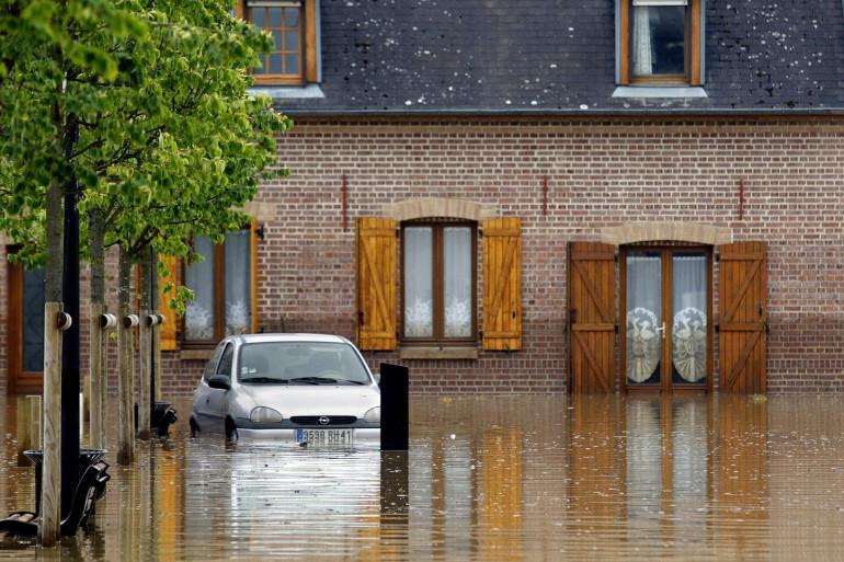 Des inondations dans l'Oise en 2007 (illustration).