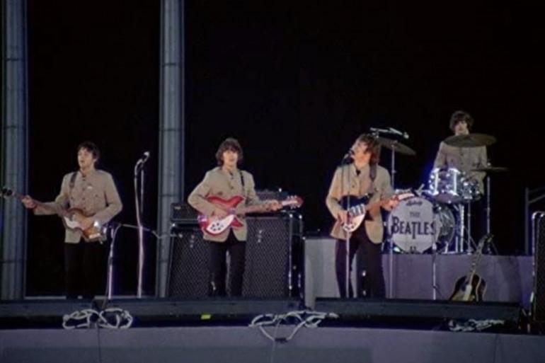 Les Beatles en concert au Shea Stadium en 1965