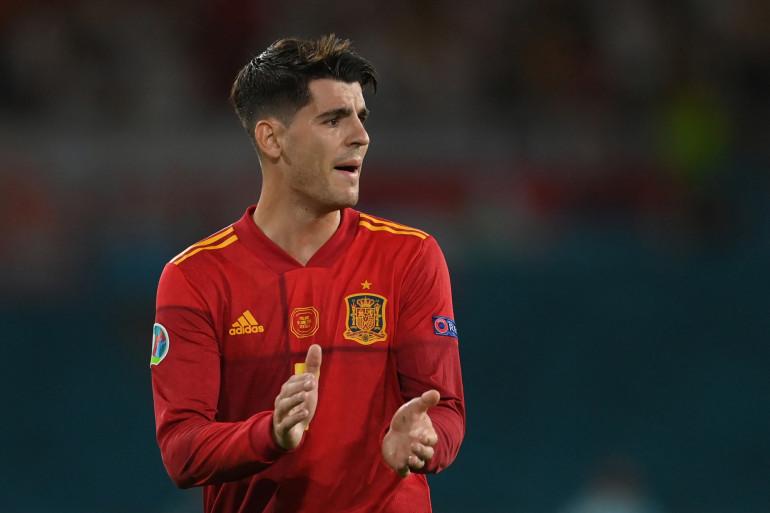Alvaro Morata avec l'Espagne à Séville le 19 juin 2021