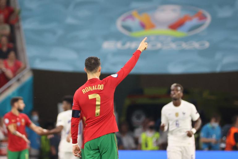 Cristiano Ronaldo avec le Portugal face à la France le 23 juin 2021 à Budapest