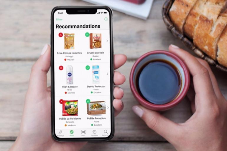 L'application Yuka scanne les articles et délivre une note en fonction de la liste des ingrédients.
