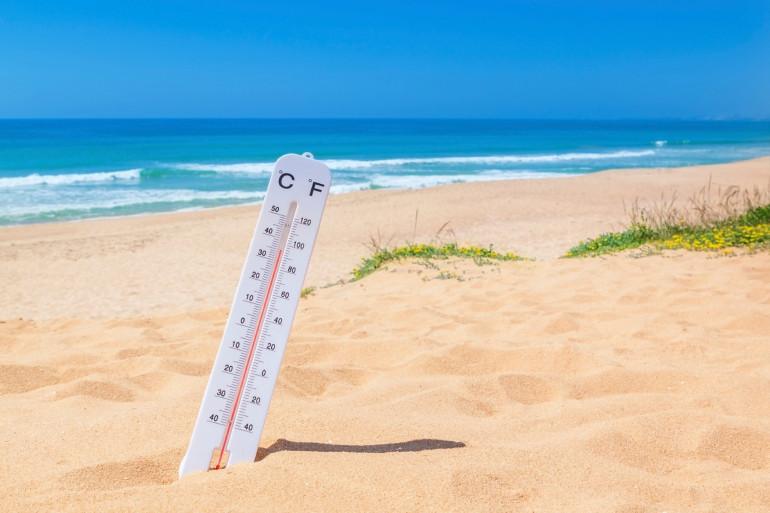 Les températures montent l'été