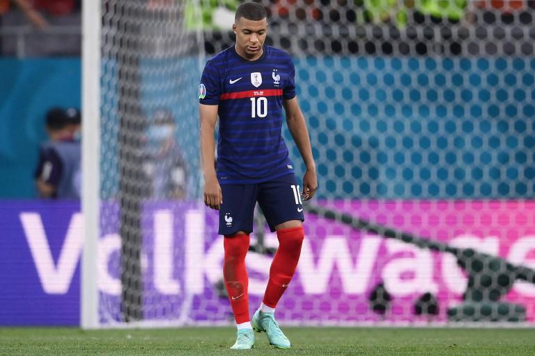 Kylian Mbappé en huitièmes de finale de l'Euro 2021