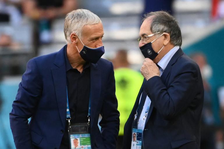 Didier Deschamps et Noël Le Graët à Munich le 15 juin 2021