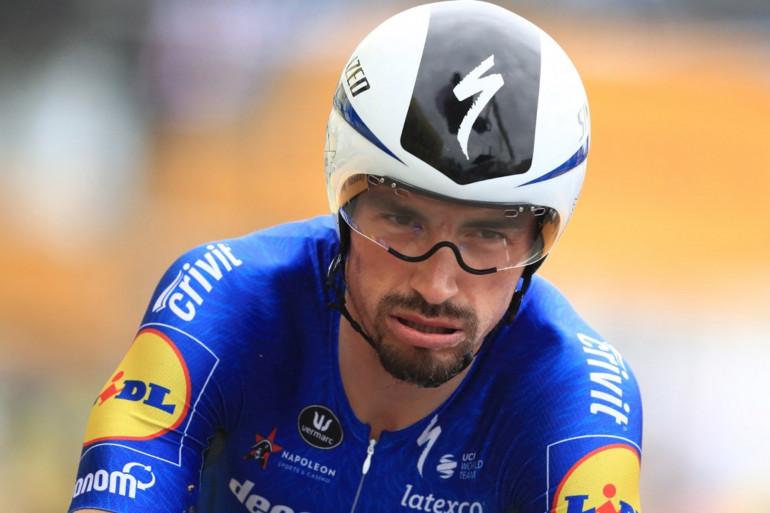 Julian Alaphilippe à l'arrivée de la 5e étape du Tour de France 2021