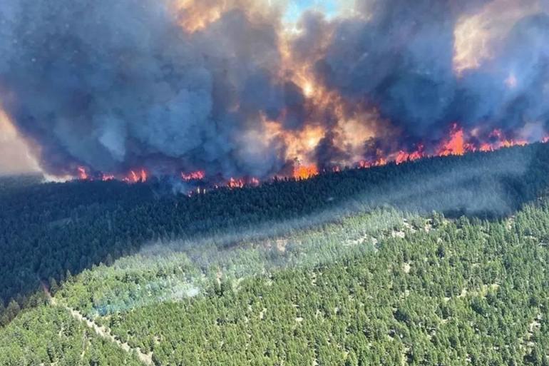 Des incendies en Colombie-Britannique (Canada), le 1er juillet.