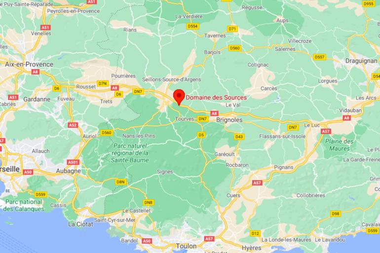 Le Domaine des Sources est situé à Tourves dans le Var.