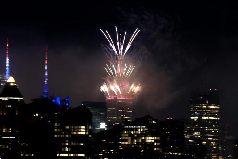 Des feux d'artifice à New York, le 4 juillet 2021.